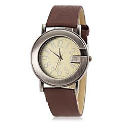 preiswerte Damenuhren-Damen Armbanduhr Quartz Schlussverkauf PU Band Analog Charme Freizeit Rot / Braun - Braun Rot