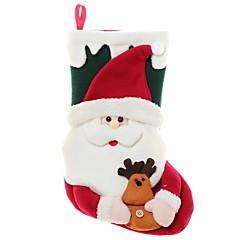 abordables Sombreros y Accesorios para la Cabeza-navidad de santa grandes calcetines decoraciones