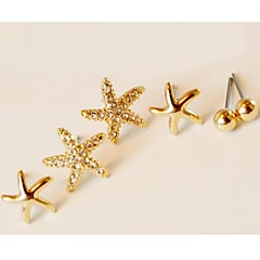 preiswerte Ohrringe-Damen Ohrstecker - Strass, vergoldet Stern Für Hochzeit / Party / Alltag