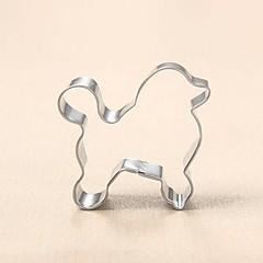 billige Bageredskaber og gadgets-puddel hund cookie cutter metal dyr kiks brød skimmel rustfrit stål diy bagning værktøjer