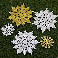abordables Decoraciones-5pcs navidad decoración escena de vacaciones regalos de navidad del copo de nieve