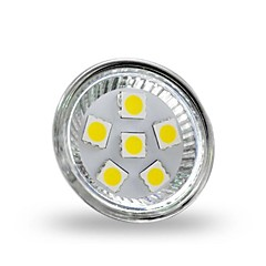 4W GU4(MR11) LED Spotlight MR11 6 leds SMD 5050 Decorative Cold White 350lm 6000-6500K DC 12V