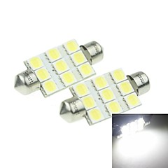 cheap LED Car Bulbs-Festoon Car White 3W SMD LED 6000-6500 Reading Light License Plate Light Side Marker Light Door lamp Spotlight High Output