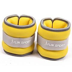 neoprén sárga csukló / boka súlyok (0,5 kg pár) 1kg szett tele vas homok futásra gyakorlása