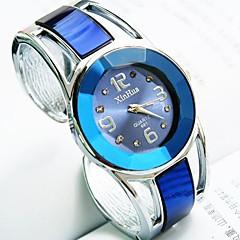 お買い得  大特価腕時計-女性用 クォーツ ブレスレットウォッチ カジュアルウォッチ 合金 バンド ヴィンテージ バングル ブラック 白 ブルー