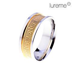 お買い得  指輪-男性用 幾何学模様 バンドリング - ステンレス鋼 ファッション 9 / 8½ / 9½ 用途 日常