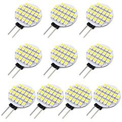 お買い得  LED 電球-10個 1.5 W 118 lm G4 LED2本ピン電球 24 LEDビーズ SMD 3528 温白色 / クールホワイト 12 V / # / RoHs