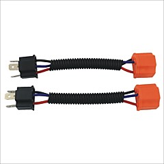 H4 Male to Female Wire Harness Sockets Extension Cable for Car Headlamp / Foglight(2PCS)