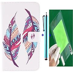 Назначение Кейс для Huawei P8 Lite Чехлы панели Кошелек Бумажник для карт со стендом Чехол Кейс для  Перья Твердый Искусственная кожа для