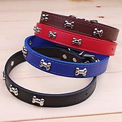 お買い得  犬用首輪/リード/ハーネス-ネコ 犬 カラー 調整可能 / 引き込み式 コスプレ PUレザー ブラック Brown レッド ブルー