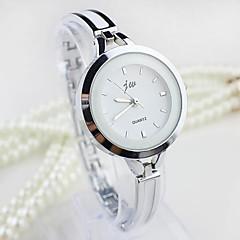 お買い得  レディース腕時計-女性用 ブレスレットウォッチ 模造ダイヤモンド 合金 バンド バングル / ファッション シルバー / ゴールド