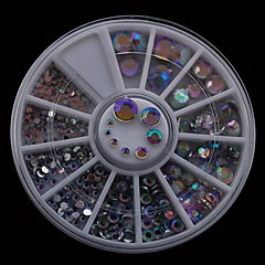300pcs 1.5mm-6.0mm karışımı ab akrilik matkap diy tırnak tekerlek taklidi tırnak sanat dekorasyon boyutları