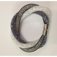 Χαμηλού Κόστους Βραχιόλια-μαγνητικό αστέρι κρύσταλλο κούμπωμα σε καθαρό κόσμημα δώρα βραχιόλια