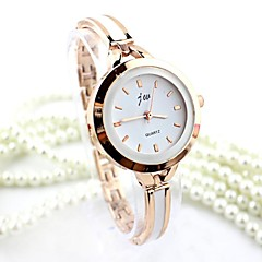 voordelige Dameshorloges-Dames Armbandhorloge Dress horloge Modieus horloge Kwarts imitatie Diamond Legering Band Bangle Zilver Goud