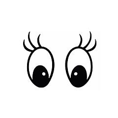 preiswerte Autozubehör-diy Serie mickey Augenmuster-Design-PVC-Dekoration-Aufkleber für das Auto und andere