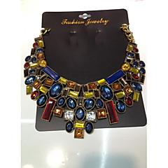 Gift Necklace Vintage Flower Necklaces & Pendants Crystal Choker Statement Necklace