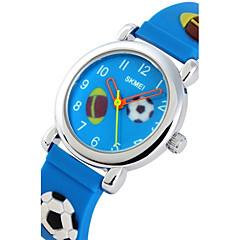 preiswerte Tolle Angebote auf Uhren-Herrn Armbanduhr Quartz Armbanduhren für den Alltag Silikon Band Charme Freizeit Zeichentrick Schwarz / Blau / Rosa - Rosa Marineblau Hellblau