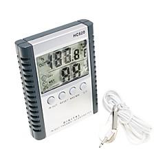 """2,5 """"digital lcd fuktighet / hygrometer og termometer (1 * AAA)"""