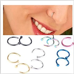 cheap Nose Rings & Studs-Stainless Steel Nose Ring / Nose Stud / Nose Piercing - Women's Pink / Golden / Light Blue Unique Design / Fashion Jewelry Body Jewelry