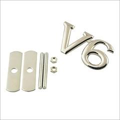 preiswerte Auto Aufkleber-3d v6 Grill Dekoration Emblem für Auto-Tuning - Silber