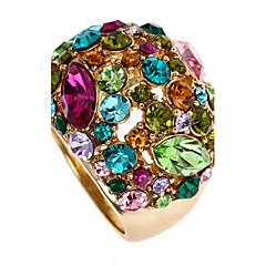 preiswerte Ringe-Damen Statement-Ring - 18K vergoldet, Roségold, Strass Luxus, Modisch, Erklärung Eine Größe Farbbildschirm Für Party / Aleación