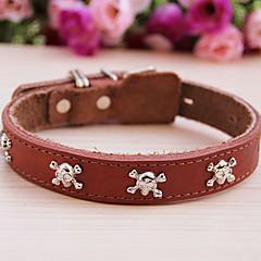 お買い得  犬用首輪/リード/ハーネス-ペットの犬のためのコーディ頭蓋骨スタイル牛革襟