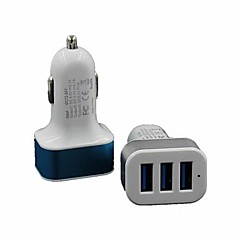 Universal 3 Port USB Car Charger Adapter for iphone 8 7 Samsung S8 S7 iPad (Assorted Colors)