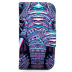 olcso Galaxy A5 tokok-Case Kompatibilitás Samsung Galaxy Samsung Galaxy tok Kártyatartó Állvánnyal Flip Mágneses Minta Héjtok Elefánt PU bőr mert A5