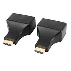 HDMI RJ45 Kat-5e / 6 HD 3D-signaalin laajennussovittimiin - musta (2 kpl)
