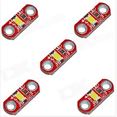abordables Módulos-hzled 5v 40ma 3000k 400-500mcd cálida Mini 3000k blanco llevó el módulo - rojo (5 piezas)