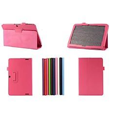 preiswerte Tablet-Hüllen-Hülle Für Hüllen mit Ständer Ganzkörper-Gehäuse Volltonfarbe Hart PU-Leder für