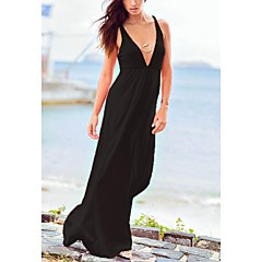 damesmode sexy stevige diepe v badmode badpak bikini strand kleding vakantie lange jurk