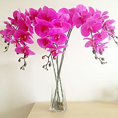 1 ветка бабочка орхидея искусственные цветы домашнее украшение свадебное предложение