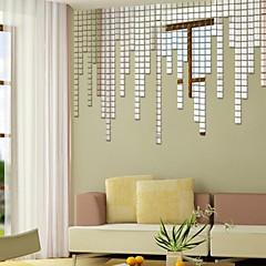 baratos -Formas Adesivos de Parede Autocolantes de Parede Espelho Autocolantes de Parede Decorativos,Vinil Material ReposicionávelDecoração para