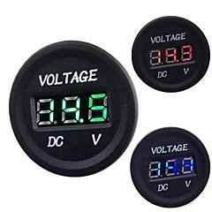 abordables Accesorios para Motos y Cuatriciclos-automóvil dc moto 12v a 24v llevó voltímetro digital