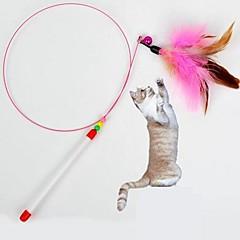 Χαμηλού Κόστους Παιχνίδια για Σκύλους-Γάτα Παιχνίδι για γάτες Παιχνίδια για κατοικίδια Πειραχτήρια Παιχνίδι με φτερά Στικ Υφασμα Για κατοικίδια