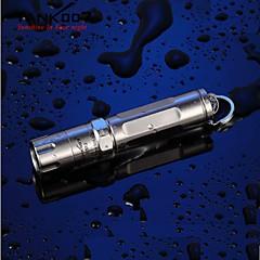TANK007 ES12  3-Mode 1xCree XP-E R3 LED Outdoor Mini Flashlight (120LM, 1xAAA,Silver)