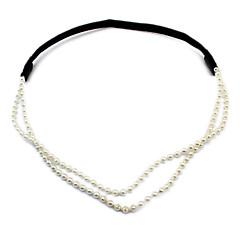 お買い得  ヘアジュエリー-女性用 フラワー Elegant 人造真珠 ヘアバンド
