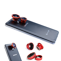 Χαμηλού Κόστους Εβδομαδιαίες προσφορές-3-In-One Μαγνητική 180 ° Fish Eye Lens και ευρυγώνιος με 0,67 x Macro Lens για Samsung κινητό τηλέφωνο
