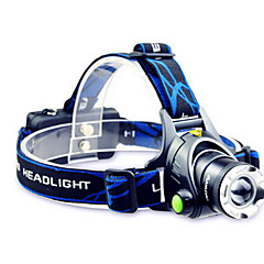 TD286 Headlamps Headlight LED 800 lm Mode Cree T6 with Batteries and Charger Zoomable Adjustable Focus Rechargeable Waterproof