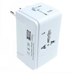 halpa AC-adapterit ja virtakaapelit-universaali matkailu adapteri, 1 usb ulkomaanmatkailu