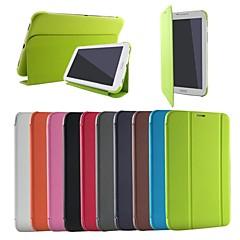 Na Samsung Galaxy Etui Z podpórką / Flip / Origami Kılıf Futerał Kılıf Jeden kolor Skóra PU Samsung Tab 3 Lite