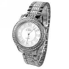 abordables Top Ventas-Mujer Reloj de Moda / Reloj de Vestir La imitación de diamante Aleación Banda Destello Plata