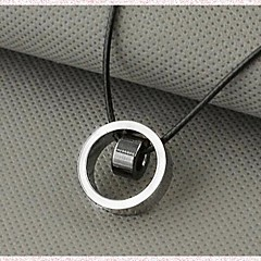 Недорогие Ожерелья-Муж. Ожерелья с подвесками - Титановая сталь На заказ, Уникальный дизайн, Мода Белый, Черный, Желтый Ожерелье Назначение Новогодние подарки, Подарок, Повседневные