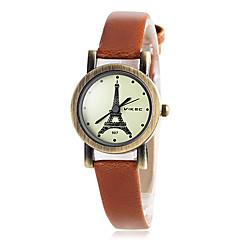 preiswerte Tolle Angebote auf Uhren-Damen Armbanduhren für den Alltag Quartz PU Band Analog Blau / Rot / Braun - Braun Rot Blau