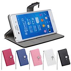 Недорогие Чехлы и кейсы для Sony-Кейс для Назначение Sony Xperia Z3 Sony Xperia Z2 Sony Бумажник для карт Кошелек Стразы со стендом Флип Чехол Геометрический рисунок