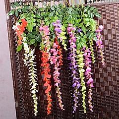 Недорогие Женские украшения-Филиал Шелк Пластик Фиолетовый Букеты на стол Искусственные Цветы