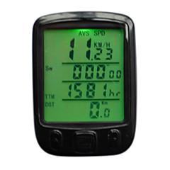 """Cyclisme/Vélo Compteur de Vélo Etanche Odomètre + """"- Comparaison SET (km / m) Réglage de la circonférence des roues On/Off Automatique"""