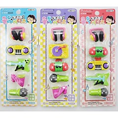 voordelige Teken- & Schrijfinstrumenten-muziekinstrumenten vormige gum set (willekeurige kleur)