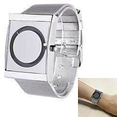 preiswerte Tolle Angebote auf Uhren-Herrn Armbanduhr Quartz Silber Armbanduhren für den Alltag Analog Elegant Einzigartige kreative Uhr - Weiß Schwarz